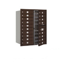 Salsbury Industries 3710D-18ZFU Recessed Mounted 4C Horizontal Mailbox - 10 Door High Unit (37 1/2 Inches) - Double Column - 18 MB1 Doors - Bronze - Front Loading - USPS Access