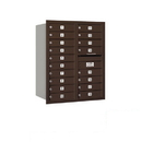 Salsbury Industries 3710D-18ZRP Recessed Mounted 4C Horizontal Mailbox - 10 Door High Unit (37 1/2 Inches) - Double Column - 18 MB1 Doors - Bronze - Rear Loading - Private Access