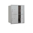 Salsbury Industries 3710D-4PAFP Recessed Mounted 4C Horizontal Mailbox-10 Door High Unit (37 1/2 Inches)-Double Column-Stand-Alone Parcel Locker-4 PL5's-Aluminum-Front Loading-Private Access