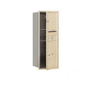 Salsbury Industries 3710S-01SFP Recessed Mounted 4C Horizontal Mailbox - 10 Door High Unit (37 1/2 Inches) - Single Column - 1 MB3 Door / 1 PL5 - Sandstone - Front Loading - Private Access