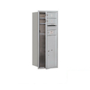 Salsbury Industries 3710S-02AFP Recessed Mounted 4C Horizontal Mailbox - 10 Door High Unit (37 1/2 Inches) - Single Column - 2 MB1 Doors / 1 PL6 - Aluminum - Front Loading - Private Access