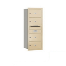 Salsbury Industries 3710S-04SRP Recessed Mounted 4C Horizontal Mailbox - 10 Door High Unit (37 1/2 Inches) - Single Column - 4 MB2 Doors - Sandstone - Rear Loading - Private Access
