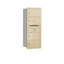 Salsbury Industries 3710S-04SRU Recessed Mounted 4C Horizontal Mailbox - 10 Door High Unit (37 1/2 Inches) - Single Column - 4 MB2 Doors - Sandstone - Rear Loading - USPS Access