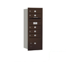 Salsbury Industries 3710S-05ZRP Recessed Mounted 4C Horizontal Mailbox - 10 Door High Unit (37 1/2 Inches) - Single Column - 5 MB1 Doors / 1 PL3 - Bronze - Rear Loading - Private Access