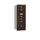 Salsbury Industries 3710S-05ZRU Recessed Mounted 4C Horizontal Mailbox - 10 Door High Unit (37 1/2 Inches) - Single Column - 5 MB1 Doors / 1 PL3 - Bronze - Rear Loading - USPS Access