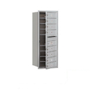 Salsbury Industries 3710S-08AFP Recessed Mounted 4C Horizontal Mailbox - 10 Door High Unit (37 1/2 Inches) - Single Column - 8 MB1 Doors - Aluminum - Front Loading - Private Access