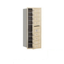 Salsbury Industries 3710S-08SFP Recessed Mounted 4C Horizontal Mailbox - 10 Door High Unit (37 1/2 Inches) - Single Column - 8 MB1 Doors - Sandstone - Front Loading - Private Access