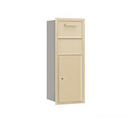 Salsbury Industries 3710S-1CSR Recessed Mounted 4C Horizontal Collection Box - 10 Door High Unit (37 1/2 Inches) - Single Column - Sandstone - Rear Access
