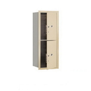 Salsbury Industries 3710S-2PSFU Recessed Mounted 4C Horizontal Mailbox-10 Door High Unit (37 1/2 Inches)-Single Column-Stand-Alone Parcel Locker-2 PL5s-Sandstone-Front Loading-USPS Access