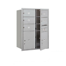 Salsbury Industries 3711D-05AFU Recessed Mounted 4C Horizontal Mailbox - 11 Door High Unit (41 Inches) - Double Column - 5 MB2 Doors / 2 PL5s - Aluminum - Front Loading - USPS Access