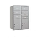 Salsbury Industries 3711D-05ARU Recessed Mounted 4C Horizontal Mailbox - 11 Door High Unit (41 Inches) - Double Column - 5 MB2 Doors / 2 PL5s - Aluminum - Rear Loading - USPS Access