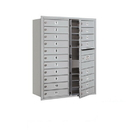 Salsbury Industries 3711D-19AFU Recessed Mounted 4C Horizontal Mailbox - 11 Door High Unit (41 Inches) - Double Column - 19 MB1 Doors - Aluminum - Front Loading - USPS Access