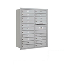 Salsbury Industries 3711D-19ARP Recessed Mounted 4C Horizontal Mailbox - 11 Door High Unit (41 Inches) - Double Column - 19 MB1 Doors - Aluminum - Rear Loading - Private Access