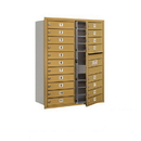 Salsbury Industries 3711D-19GFU Recessed Mounted 4C Horizontal Mailbox - 11 Door High Unit (41 Inches) - Double Column - 19 MB1 Doors - Gold - Front Loading - USPS Access