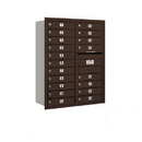 Salsbury Industries 3711D-19ZRP Recessed Mounted 4C Horizontal Mailbox - 11 Door High Unit (41 Inches) - Double Column - 19 MB1 Doors - Bronze - Rear Loading - Private Access