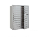 Salsbury Industries 3711D-20AFU Recessed Mounted 4C Horizontal Mailbox - 11 Door High Unit (41 Inches) - Double Column - 20 MB1 Doors - Aluminum - Front Loading - USPS Access