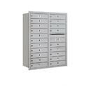 Salsbury Industries 3711D-20ARU Recessed Mounted 4C Horizontal Mailbox - 11 Door High Unit (41 Inches) - Double Column - 20 MB1 Doors - Aluminum - Rear Loading - USPS Access