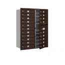 Salsbury Industries 3711D-20ZFP Recessed Mounted 4C Horizontal Mailbox (Includes Master Commercial Lock)-11 Door High Unit (41 Inches)-Double Column-20 MB1 Doors-Bronze-Front Loading-Private Access