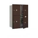 Salsbury Industries 3711D-4PZFU Recessed Mounted 4C Horizontal Mailbox-11 Door High Unit (41 Inches)-Double Column-Stand-Alone Parcel Locker-3 PL5's and 1 PL6-Bronze-Front Loading-USPS Access