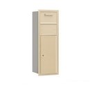 Salsbury Industries 3711S-1CSF Recessed Mounted 4C Horizontal Collection Box - 11 Door High Unit (41 Inches) - Single Column - Sandstone - Front Access