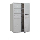 Salsbury Industries 3712D-05AFP Recessed Mounted 4C Horizontal Mailbox - 12 Door High Unit (44 1/2 Inches) - Double Column - 5 MB2 Doors / 2 PL6s - Aluminum - Front Loading - Private Access