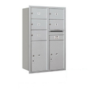 Salsbury Industries 3712D-05ARP Recessed Mounted 4C Horizontal Mailbox - 12 Door High Unit (44 1/2 Inches) - Double Column - 5 MB2 Doors / 2 PL6s - Aluminum - Rear Loading - Private Access