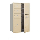 Salsbury Industries 3712D-05SFP Recessed Mounted 4C Horizontal Mailbox - 12 Door High Unit (44 1/2 Inches) - Double Column - 5 MB2 Doors / 2 PL6s - Sandstone - Front Loading - Private Access