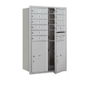 Salsbury Industries 3712D-10AFP Recessed Mounted 4C Horizontal Mailbox - 12 Door High Unit (44 1/2 Inches) - Double Column - 10 MB1 Doors / 2 PL6s - Aluminum - Front Loading - Private Access