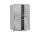 Salsbury Industries 3712D-22AFP Recessed Mounted 4C Horizontal Mailbox - 12 Door High Unit (44 1/2 Inches) - Double Column - 22 MB1 Doors - Aluminum - Front Loading - Private Access