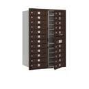 Salsbury Industries 3712D-22ZFP Recessed Mounted 4C Horizontal Mailbox - 12 Door High Unit (44 1/2 Inches) - Double Column - 22 MB1 Doors - Bronze - Front Loading - Private Access