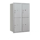 Salsbury Industries 3712D-4PARP Recessed Mounted 4C Horizontal Mailbox-12 Door High Unit (44 1/2 Inches)-Double Column-Stand-Alone Parcel Locker-4 PL6's-Aluminum-Rear Loading-Private Access