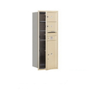 Salsbury Industries 3712S-02SFU Recessed Mounted 4C Horizontal Mailbox - 12 Door High Unit (44 1/2 Inches) - Single Column - 2 MB2 Doors / 1 PL6 - Sandstone - Front Loading - USPS Access