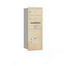 Salsbury Industries 3712S-02SRP Recessed Mounted 4C Horizontal Mailbox - 12 Door High Unit (44 1/2 Inches) - Single Column - 2 MB2 Doors / 1 PL6 - Sandstone - Rear Loading - Private Access