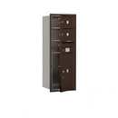 Salsbury Industries 3712S-02ZFP Recessed Mounted 4C Horizontal Mailbox - 12 Door High Unit (44 1/2 Inches) - Single Column - 2 MB2 Doors / 1 PL6 - Bronze - Front Loading - Private Access