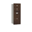 Salsbury Industries 3712S-02ZRP Recessed Mounted 4C Horizontal Mailbox - 12 Door High Unit (44 1/2 Inches) - Single Column - 2 MB2 Doors / 1 PL6 - Bronze - Rear Loading - Private Access