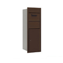 Salsbury Industries 3712S-1CZR Recessed Mounted 4C Horizontal Collection Box - 12 Door High Unit (44 1/2 Inches) - Single Column - Bronze - Rear Access