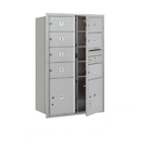 Salsbury Industries 3713D-07AFU Recessed Mounted 4C Horizontal Mailbox - 13 Door High Unit (48 Inches) - Double Column - 7 MB2 Doors and 2 PL5's - Aluminum - Front Loading - USPS Access