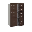 Salsbury Industries 3713D-07ZFP Recessed Mounted 4C Horizontal Mailbox - 13 Door High Unit (48 Inches) - Double Column - 7 MB2 Doors and 2 PL5's - Bronze - Front Loading - Private Access