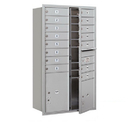 Salsbury Industries 3713D-15AFU Recessed Mounted 4C Horizontal Mailbox - 13 Door High Unit (48 Inches) - Double Column - 15 MB1 Doors / 1 PL4 and 1 PL5 - Aluminum - Front Loading - USPS Access