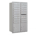 Salsbury Industries 3713D-16ARP Recessed Mounted 4C Horizontal Mailbox - 13 Door High Unit (48 Inches) - Double Column - 16 MB1 Doors / 2 PL4's - Aluminum - Rear Loading - Private Access