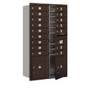 Salsbury Industries 3713D-16ZFU Recessed Mounted 4C Horizontal Mailbox - 13 Door High Unit (48 Inches) - Double Column - 16 MB1 Doors / 2 PL4's - Bronze - Front Loading - USPS Access