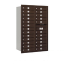Salsbury Industries 3713D-24ZRP Recessed Mounted 4C Horizontal Mailbox - 13 Door High Unit (48 Inches) - Double Column - 24 MB1 Doors - Bronze - Rear Loading - Private Access