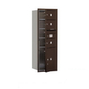 Salsbury Industries 3713S-03ZFU Recessed Mounted 4C Horizontal Mailbox - 13 Door High Unit (48 Inches) - Single Column - 3 MB2 Doors / 1 PL5 - Bronze - Front Loading - USPS Access