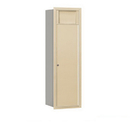 Salsbury Industries 3713S-1BSR Recessed Mounted 4C Horizontal Receptacle Bin - 13 Door High Unit (48 Inches) - Single Column - 1 Receptacle Bin - Sandstone - Rear Access