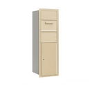 Salsbury Industries 3713S-1CSF Recessed Mounted 4C Horizontal Collection Box - 13 Door High Unit (48 Inches) - Single Column - Sandstone - Front Access
