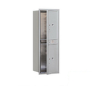 Salsbury Industries 3713S-2PAFP Recessed Mounted 4C Horizontal Mailbox-13 Door High Unit (48 Inches)-Single Column-Stand-Alone Parcel Locker-2 PL6's-Aluminum-Front Loading-Private Access