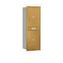 Salsbury Industries 3713S-2PGRU Recessed Mounted 4C Horizontal Mailbox - 13 Door High Unit (48 Inches) - Single Column - Stand-Alone Parcel Locker - 2 PL6's - Gold - Rear Loading - USPS Access