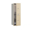 Salsbury Industries 3713S-2PSFP Recessed Mounted 4C Horizontal Mailbox-13 Door High Unit (48 Inches)-Single Column-Stand-Alone Parcel Locker-2 PL6's-Sandstone-Front Loading-Private Access