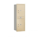Salsbury Industries 3713S-2PSRP Recessed Mounted 4C Horizontal Mailbox-13 Door High Unit (48 Inches)-Single Column-Stand-Alone Parcel Locker-2 PL6's-Sandstone-Rear Loading-Private Access