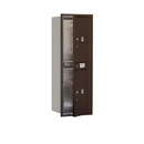 Salsbury Industries 3713S-2PZFP Recessed Mounted 4C Horizontal Mailbox - 13 Door High Unit (48 Inches) - Single Column - Stand-Alone Parcel Locker - 2 PL6's - Bronze - Front Loading - Private Access